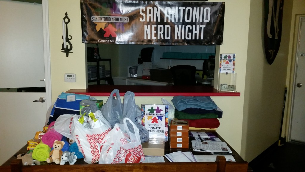 Donations for TBSS backpacks! Great job, nerds!